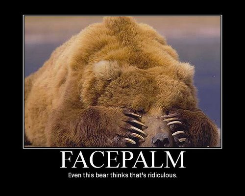 Bear Facepalm