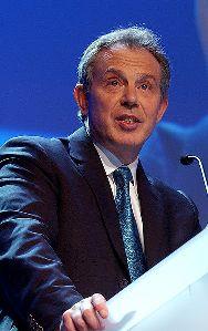 Tony Blair à la conférence de Davos