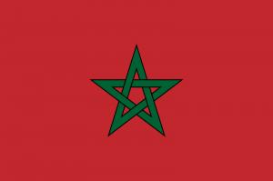 Drapeau Maroc  (image libre de droits)