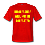 Intolerance will not be tolerated (Image libre de droits)