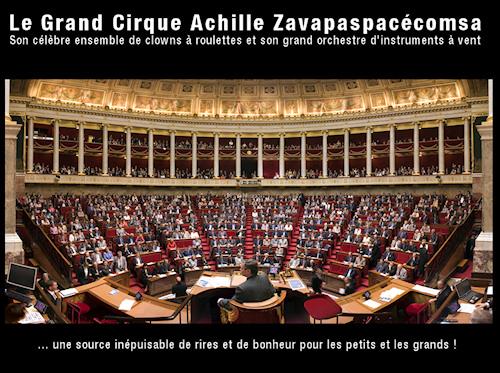cirque de l'assemblée nationale