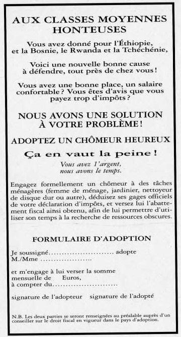 Formulaire : Adopter un Chômeur Heureux !