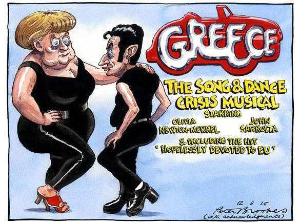 Greece, starring Olivia Newton-Merkel and John Sarkolta
