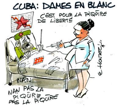 Le Honzec Cuba Dames en blanc (Crédits : René Le Honzec/Contrepoints, licence Creative Commons)