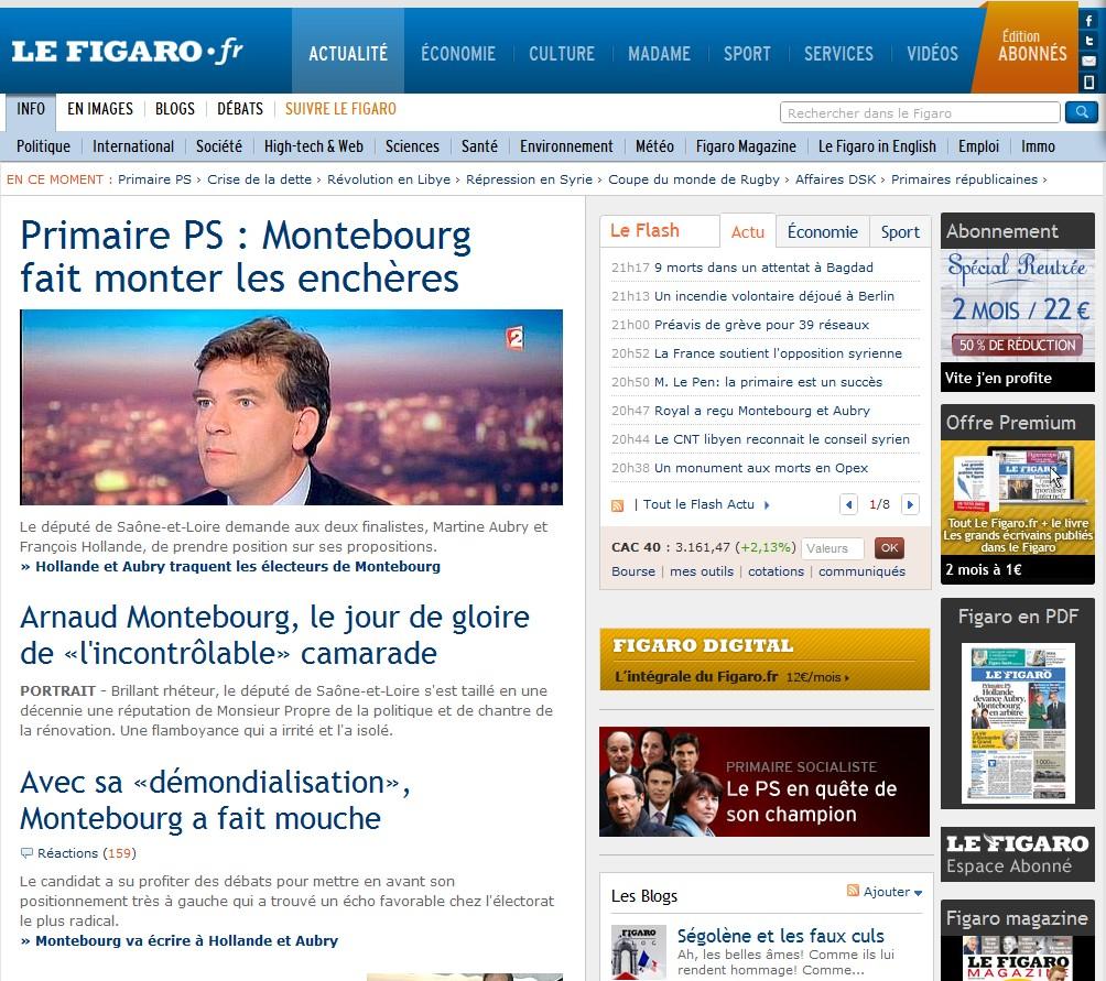 Une presse française toujours en phase avec la vraie actualité
