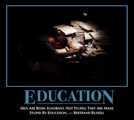 L'enfer est pavé de bonnes intentions (12) : l'Education Nationale