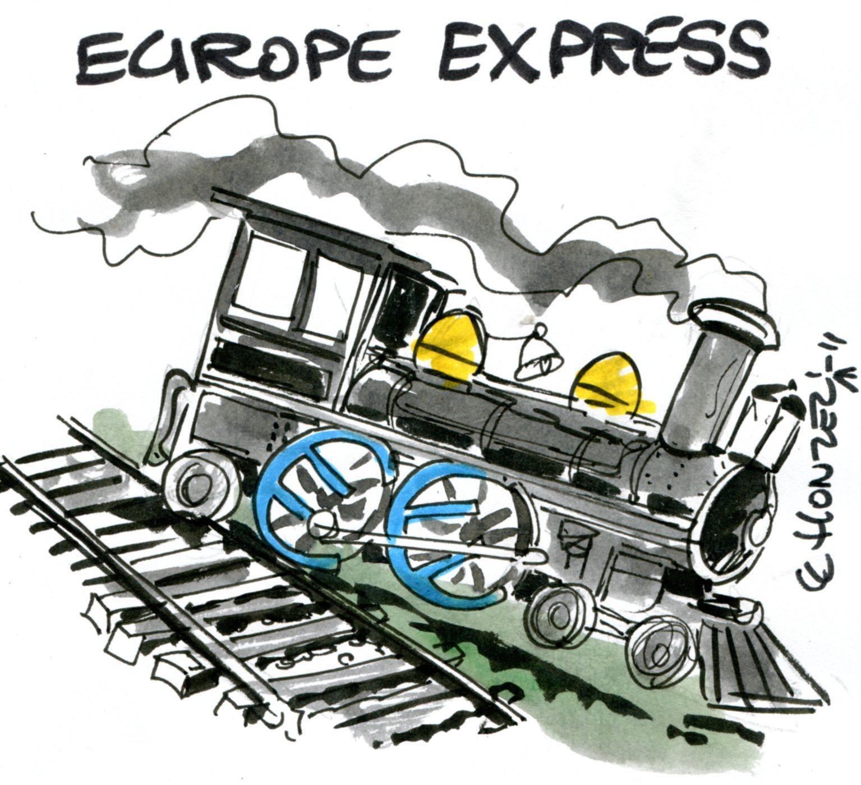 Le train du collectivisme d raille en europe et aux tats unis contrepoints - Train en dessin ...