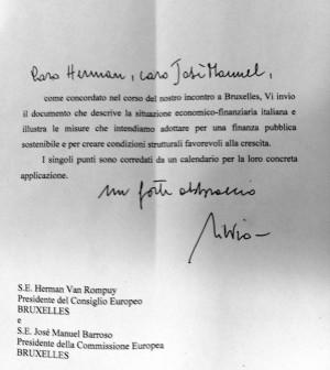 La lettre de Berlusconi