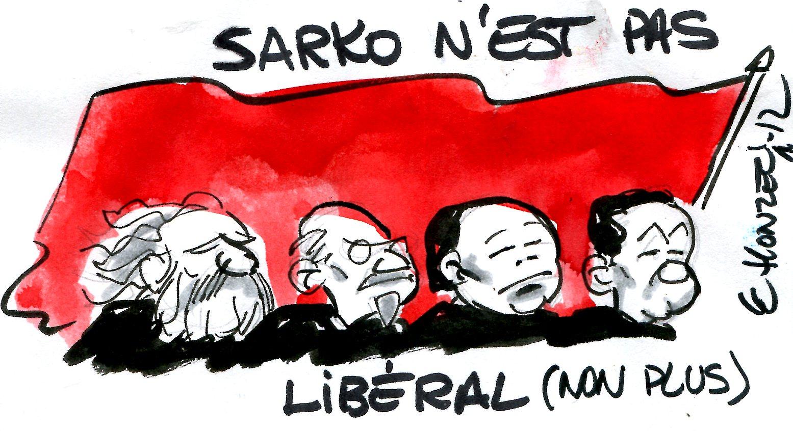 Nicolas Sarkozy, fervent opposant au libéralisme