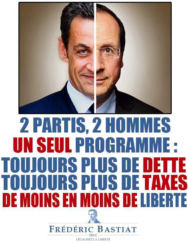 Sarkoz Hollande Bastiat2012