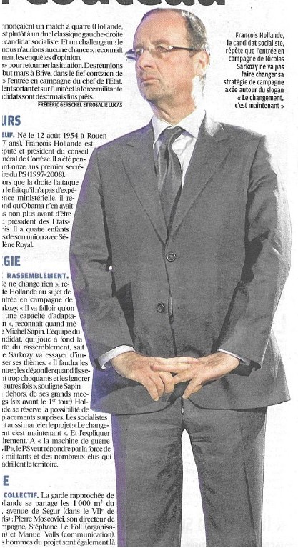 Hollande, braguette ouverte.