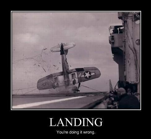 landing a plane : you're doing it wrong