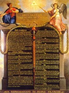 Déclaration des droits de l'homme et du citoyen de 1789.