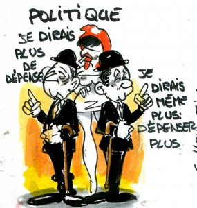Sarkozy Hollande dépenser plus
