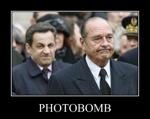 sarkozy : photobomb