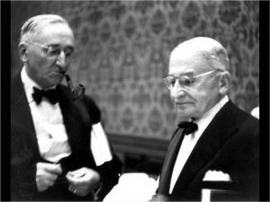 Friedrich von Hayek et Ludwig von Mises.