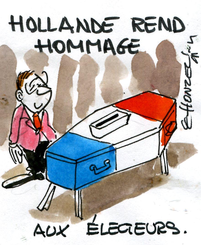 Hollande rend hommage aux soldats