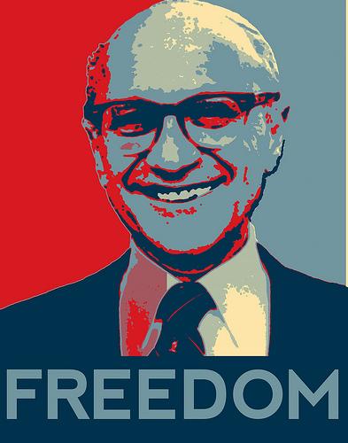 Milton Friedman Freedom (Image libre de droits)
