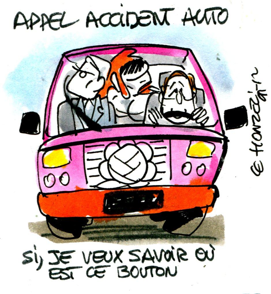 S curit routi re l appel automatique et obligatoire en - Dessin humoristique voiture ...