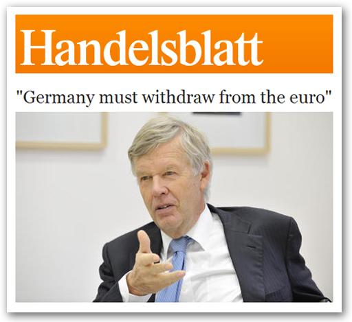 Euro : la sortie de l'Allemagne en Une de la presse d'outre-Rhin