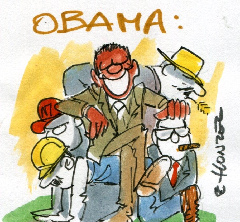 """Les petits entrepreneurs à Obama : """"Vous nous êtes redevable !"""""""