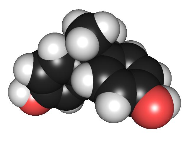 Structure moléculaire du Bisphénol A