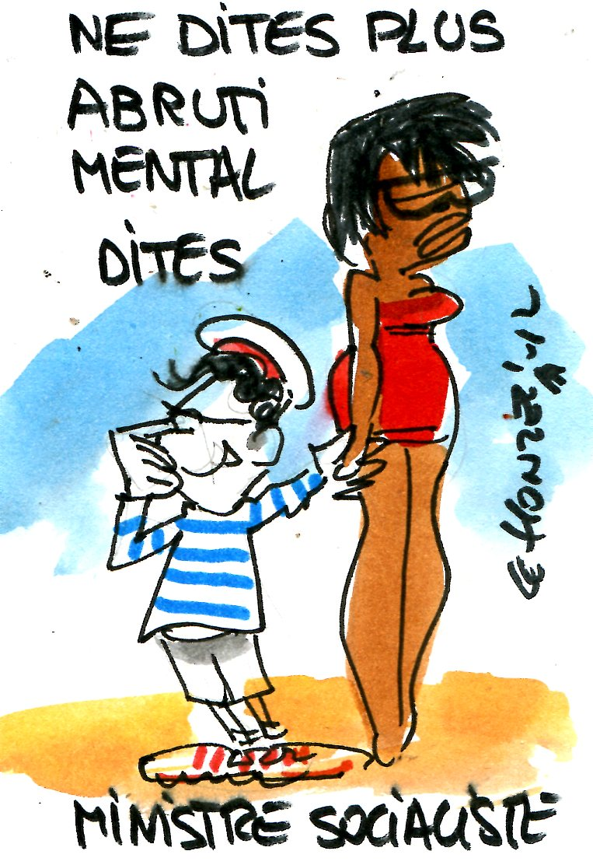 "Montebourg : ""un abruti mental"" ?"