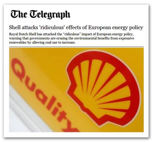 Shell veut un soutien pour son gaz, pas pour l'éolien et le charbon
