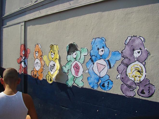 Bisounours sur un mur à San Francisco (Crédits istolethetv, licence Creative Commons)