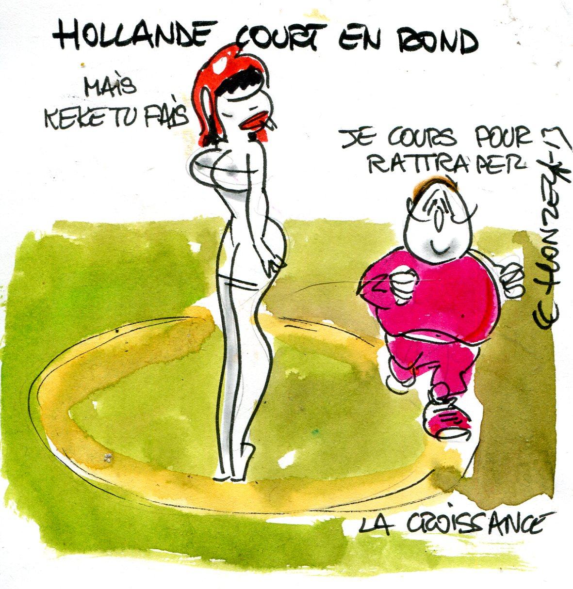 Conférence de presse : Hollande tourne en rond