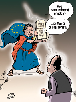 Les Dix Commandements de l'Europe à la France