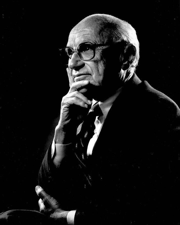 Milton Friedman (Crédits : The Friedman Foundation for Educational Choice, licence Creative Commons)