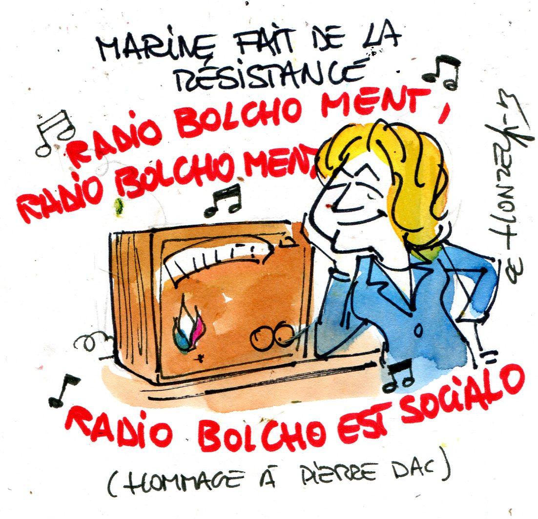 """Clash Patrick Cohen - Marine le Pen : """"bolchos"""" contre """"fachos"""""""