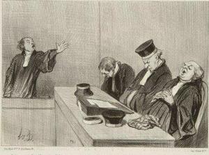 Honoré Daumier. Les gens de justice. 1845.