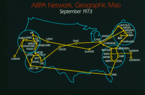 Carte Arpanet 1973