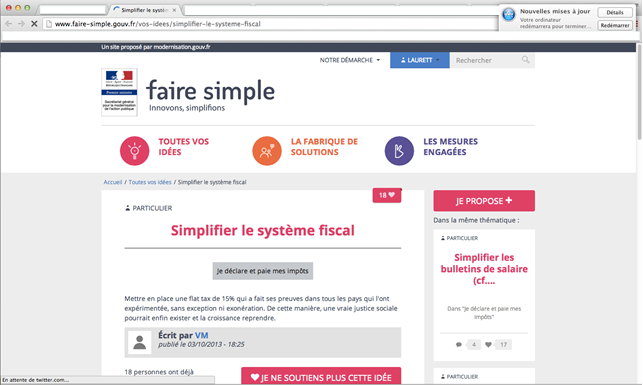 Simplifier le système fiscal