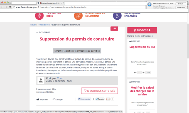 Suppression du permis de construire