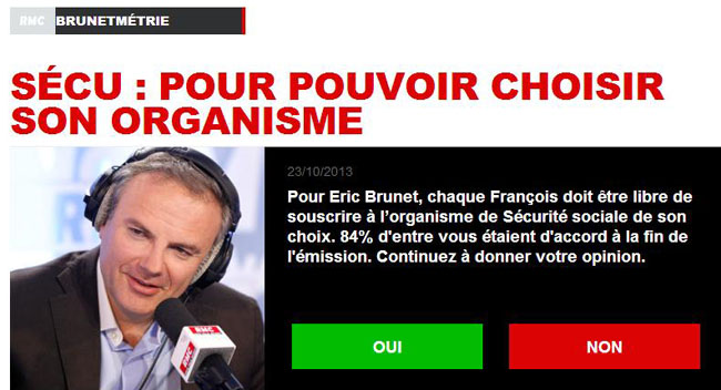 Quitter la sécu Eric Brunet