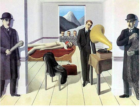 René Magritte, L'assassin menacé, 1927.