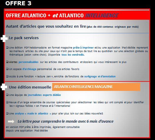 Atlantico payant offre 3
