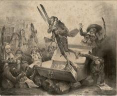 Jean Jacques Grandville, Résurrection de la censure, 1832.