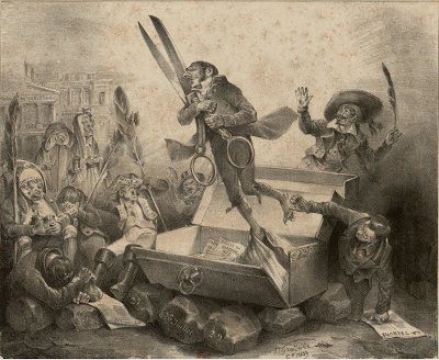 Jean Jacques Grandville, Résurrection de la censure, 1832.