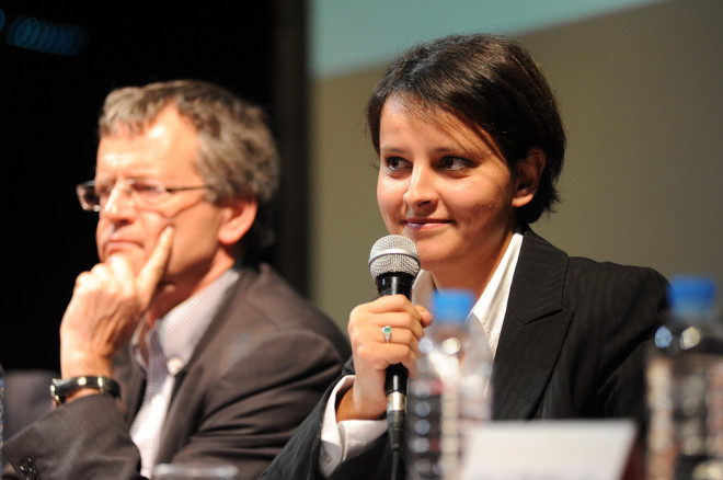 Najat Vallaud-Belkacem (Crédits Ségolène Royal, licence Creative Commons)