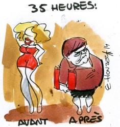 35 heures (crédits : René Le Honzec/Contrepoints, licence Creative Commons)