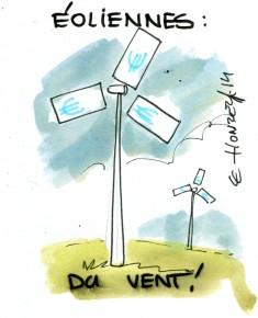 Chères éoliennes (Crédits : René Le Honzec/Contrepoints.org, licence Creative Commons)