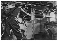Mise en batterie d'un canon antichar de 37 mm (ouvrage de Schœnenbourg, ligne Maginot) (Crédits : Martial BACQUET, licence Creative Commons)
