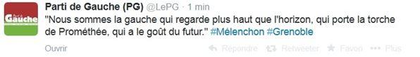 Tweet Front de Gauche