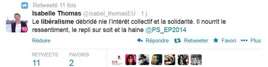 Tweet Isabelle Thomas