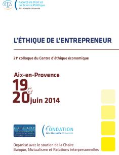 Programme du colloque d'éthique économique 2014