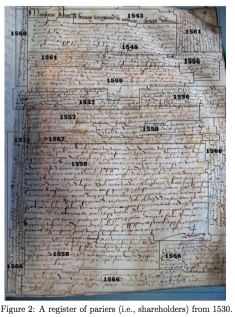 Registre des actionnaires de 1530